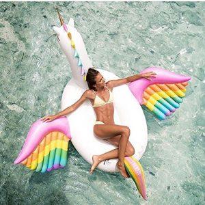 Flotador inflable unicornio con alas