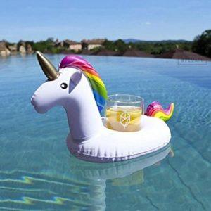 Flotador posavasos de unicornio