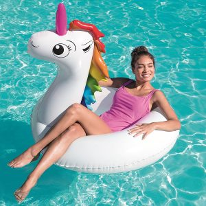 Bestway 36123 Flotador Aro Inflable Unicornio, Multicolor