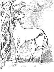 unicornio joven colorear