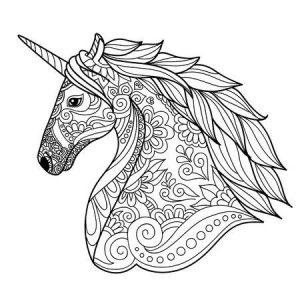 Dibujos Para Colorear Faciles Y Bonitos De Unicornios