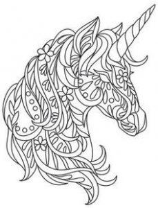 Dibujo unicornio para colorear