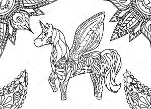 unicornio alado pintar