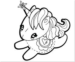 unicornio infantil para colorear