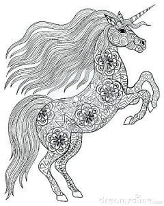 unicornio para colorear e imprimir