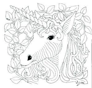 unicornio para colorear fáciles
