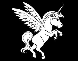 unicornio joven para colorear