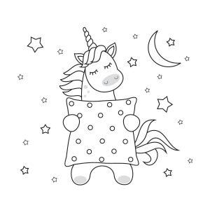 unicornio para colorear tierno