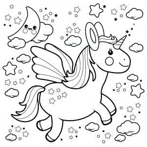 unicornio alado volador