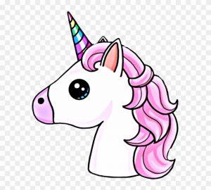 unicornio cara kawaii